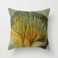 mushroom Throw Pillows featuring Mushroom by Carol P Kingsley