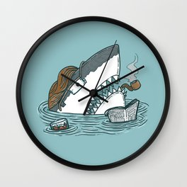 The Dad Shark Wall Clock