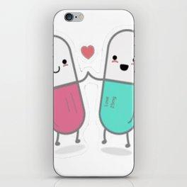 Cute pills iPhone Skin