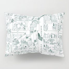 WAYNE University map DETROIT MICHIGAN dorm decor graduate graduation Pillow Sham