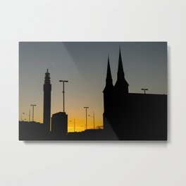 Queensway Silhouettes Metal Print