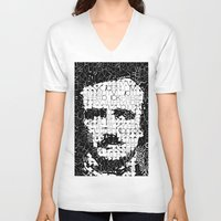 edgar allen poe V-neck T-shirts featuring Poe by Artstiles