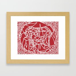 Bushel of Crabs (RED) Framed Art Print