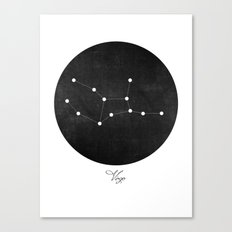 Virgo Constellation Art Print  Canvas Print