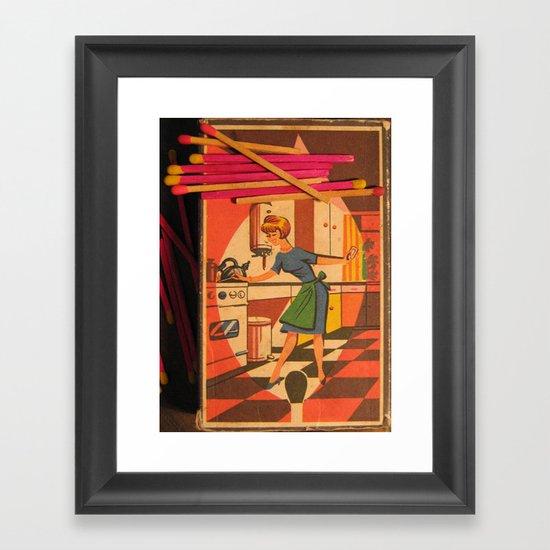 Light Up A Match Framed Art Print
