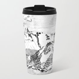 Drawing of Wizard Island in Crater Lake from the Rim Travel Mug