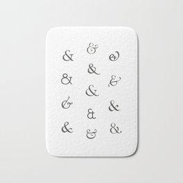Ampersands Bath Mat