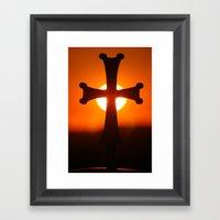 Sunset Cross Framed Art Print