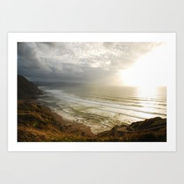 Nature photography. Barrika Beach, Basque Country. Spain. Art Print