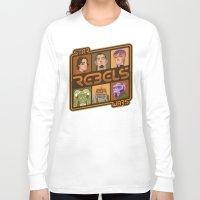 ezra koenig Long Sleeve T-shirts featuring Rebel 4: Ezra Bridger by Szoki
