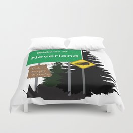 Neverland signs Duvet Cover