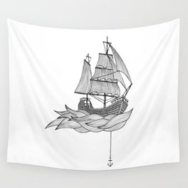 The ship Wall Tapestry