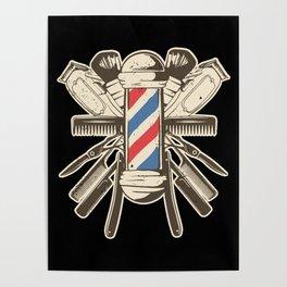Barber Accessories   Beard Hairdresser Poster