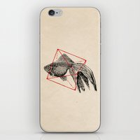 fish iPhone & iPod Skins featuring Fish In Geometrics III by Florent Bodart / Speakerine
