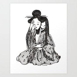 ''gueisha'' Art Print
