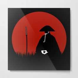 Meditating Samurai Warrior Metal Print