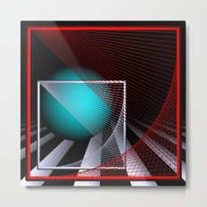 experiments on geometry -9- Metal Print