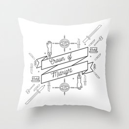 Crown of Midnight Throw Pillow