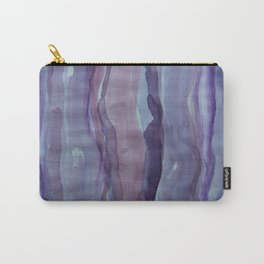 Violet Stripes Carry-All Pouch
