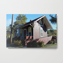 Peninsula Ohio Depot Metal Print