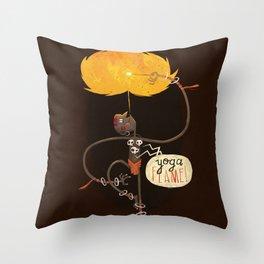 Yoga Flame Throw Pillow