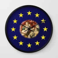 europe Wall Clocks featuring Europe by Turul
