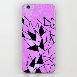 Purple Triangles iPhone Skin
