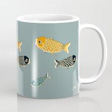 Koi Blue Coffee Mug
