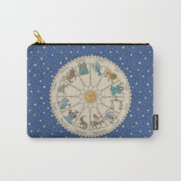 Vintage Astrology Zodiac Wheel Carry-All Pouch