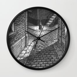 Streets crossing Wall Clock
