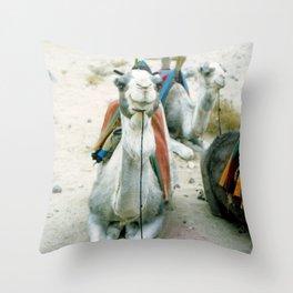 Camel 01 Throw Pillow