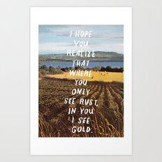 gold haiku Art Print