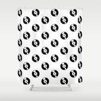 records Shower Curtains featuring Pattern Records by Idan David