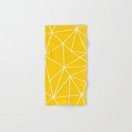 Geometric Bright Yellow, Summer Abstract Pattern Hand & Bath Towel
