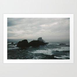 Crashing Waves on Cannon Beach Oregon Art Print