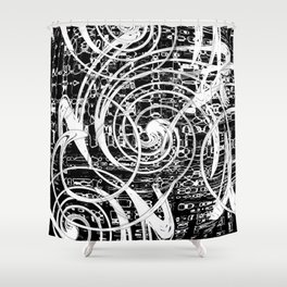 Circular Motion Shower Curtain