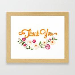 Floral Thanks Framed Art Print