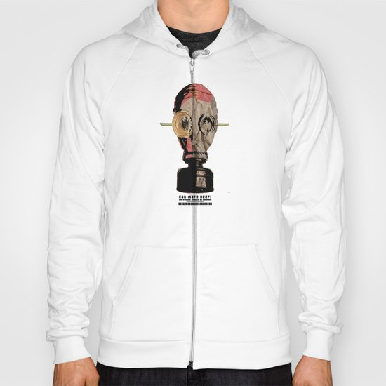 Eat more beef! Gas Mask Collage Hoody