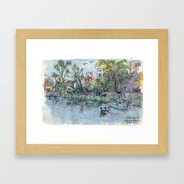 Venice Beach Canals Framed Art Print