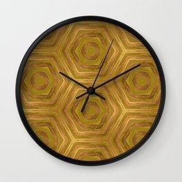 Golden - Cooper Geometric Abstract Wall Clock