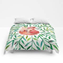 Woodland Fox – Green Leaves Comforters