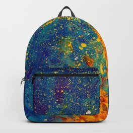 Divine Flames - Fire Opal Embers + Midnight Blue Night Sky Backpack