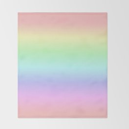 Soft Pastel Rainbow Throw Blanket