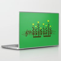 music notes Laptop & iPad Skins featuring Music notes garden by Picomodi