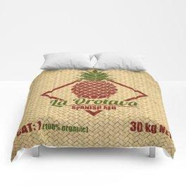 La Orotava Valley pineapple basket Comforters