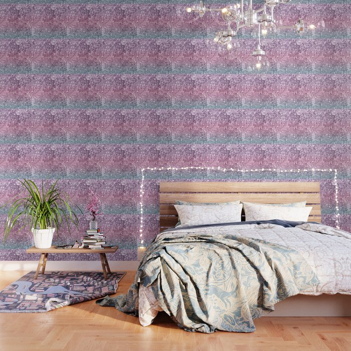 Unicorn Girls Glitter 5 Shiny Pastel Decor Art Society6 Wallpaper