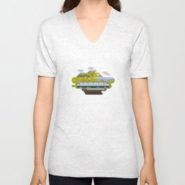 Railway Locomotive #40 Unisex V-Neck