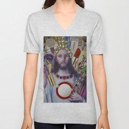 Jesus loves Vain Unisex V-Neck