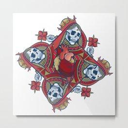 The Queen Of Bleeding Hearts Metal Print
