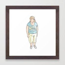 Hot lady Framed Art Print